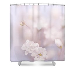 Passion For Flowers. White Pearls Of Gypsophila Shower Curtain by Jenny Rainbow