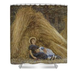 Past Work Shower Curtain by Helen Allingham
