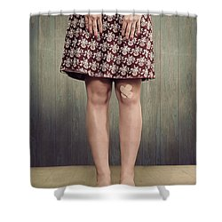 Patches Shower Curtain by Joana Kruse