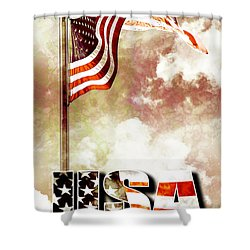 Patriotism The American Way Shower Curtain by Phill Petrovic