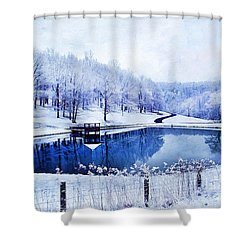 Peaceful Winters Day Shower Curtain by Darren Fisher