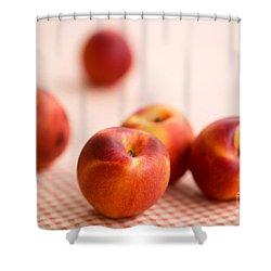 Peaches  Shower Curtain by Kati Molin