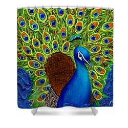 Peacock's Delight Shower Curtain by The Art With A Heart By Charlotte Phillips