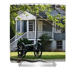 Peers House And Cannon Appomattox Court House Virginia Shower Curtain by Teresa Mucha