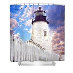 Pemaquid Point Shower Curtain by Darren Fisher