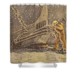 Perseverance Shower Curtain by Carey MacDonald