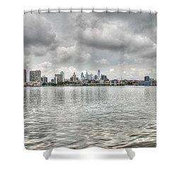 Philadelphia Across The Water Shower Curtain by Jennifer Ancker