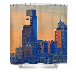Philadelphia Sunrise Shower Curtain by Bill Cannon