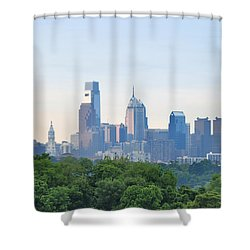 Philly Skyline Shower Curtain by Bill Cannon