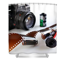 Photography Gear Shower Curtain by Carlos Caetano
