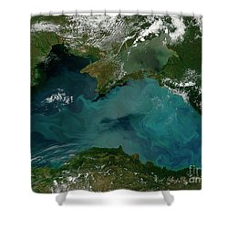 Phytoplankton Bloom In The Black Sea Shower Curtain by Stocktrek Images