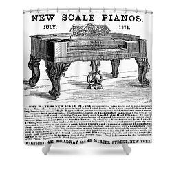 Piano Advertisement, 1874 Shower Curtain by Granger