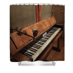 Piano Candelabra Shower Curtain by Bobbie Moller