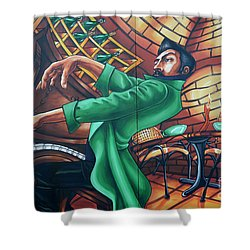 Piano Man 4 Shower Curtain by Bob Christopher