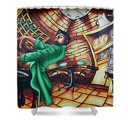 Piano Man Shower Curtain by Bob Christopher