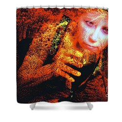 Picnic In The Forest Shower Curtain by Clayton Bruster