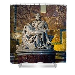Pieta By Michelangelo Circa 1499 Ad Shower Curtain by Jon Berghoff