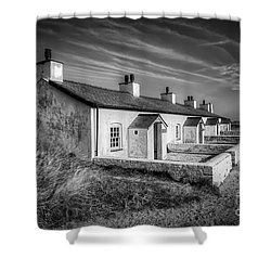 Pilot Cottages Shower Curtain by Adrian Evans