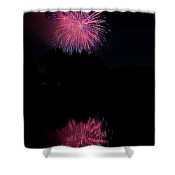Pink Fireworks Shower Curtain by James BO  Insogna