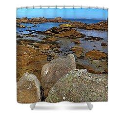 Pink Granite Coast Shower Curtain by Heiko Koehrer-Wagner