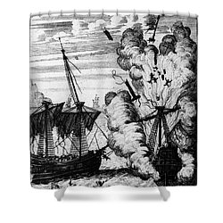 Pirate Ships Shower Curtain by Granger