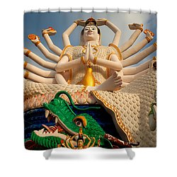 Plai Laem Buddha Shower Curtain by Adrian Evans