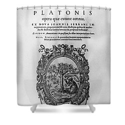 Plato: Title Page Shower Curtain by Granger