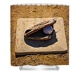 Play Ball Shower Curtain by Bill Cannon