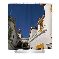 Plaza De Toros De La Real Maestranza - Seville Shower Curtain by Juergen Weiss