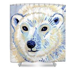 Polar Bear Shower Curtain by Genevieve Esson