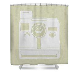 Polaroid Camera 3 Shower Curtain by Naxart Studio