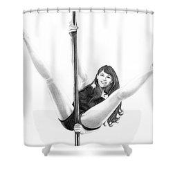 Pole Dancer Shower Curtain by Murphy Elliott