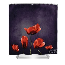 Poppies Fun 03b Shower Curtain by Variance Collections