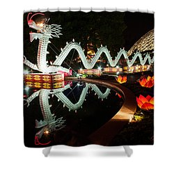 Porcelain Dragon Shower Curtain by Semmick Photo