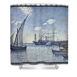 Porte De Cette Les Tartanes Shower Curtain by Theo van Rysselberghe