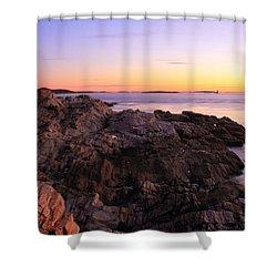 Portland Head Lighthouse Seascape Shower Curtain by Roupen  Baker