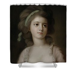 Portrait Of A Young Lady Shower Curtain by French School