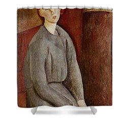 Portrait Of Annie Bjarne Shower Curtain by Amedeo Modigliani