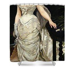 Portrait Of Mademoiselle X Shower Curtain by Charles Emile Auguste Carolus Duran