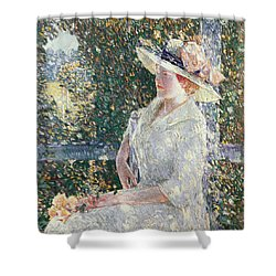 Portrait Of Miss Weir Shower Curtain by Childe Hassam