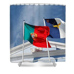 Portugal And Azores Flags Shower Curtain by Gaspar Avila