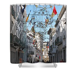 Portuguese Street Shower Curtain by Gaspar Avila