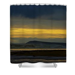 Powlett River On A Stormy Morning Shower Curtain by Blair Stuart