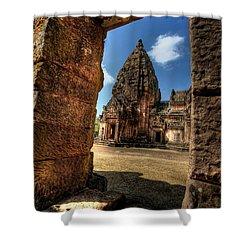 Prasat Phnom Rung Shower Curtain by Adrian Evans