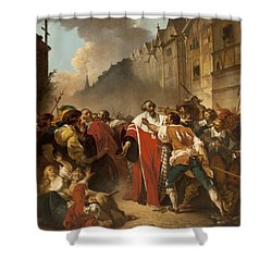 President Mole Manhandled By Insurgents Shower Curtain by Francois Andre Vincent
