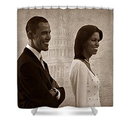 President Obama And First Lady S Shower Curtain by David Dehner