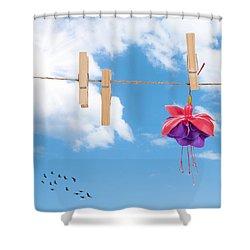 Pretty Fuchsia Head  Shower Curtain by Amanda Elwell