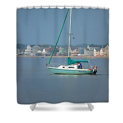 Prime Time Shower Curtain by Karol Livote