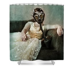 Princess In Gas Mask 2 Shower Curtain by Jill Battaglia