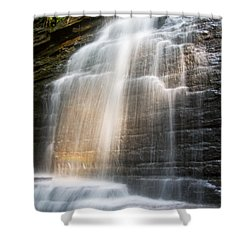 Promise Falls Shower Curtain by Debra and Dave Vanderlaan